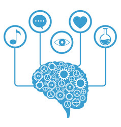 brain human gear learning icons vector image