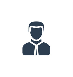 Businessman office worker solid flat icon vector
