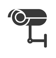 Cctv camera police related icon vector