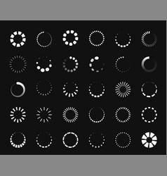 circle loader icon round progress bar vector image