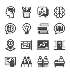 classroom icon set vector image