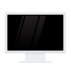 computer lcd monitor flat design vector image