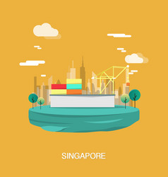 construction and structure buildings in singapore vector image
