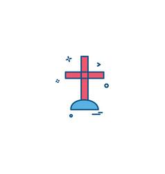 cross icon design vector image
