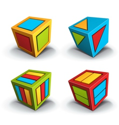 Cube design elements vector