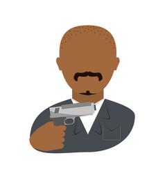 Danger bandit with gun avatar character vector