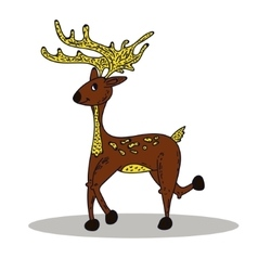 Deer on white background vector image