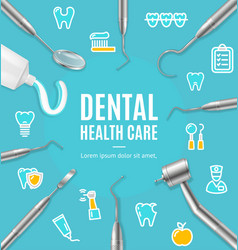 Dental health care concept banner card with vector