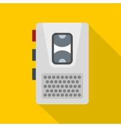 Dictaphone icon flat style vector image