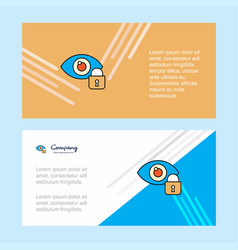Eye locked abstract corporate business banner vector