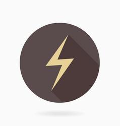 fine lightningflat icon with lightning vector image