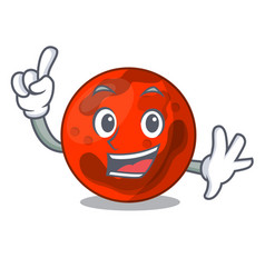 Finger mars planet mascot cartoon vector