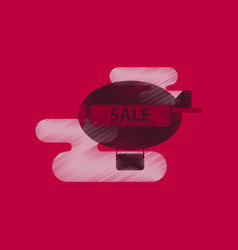 flat shading style icon air balloon sale vector image