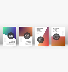 Flyer layout modern posh template for brochure a vector