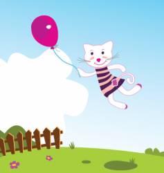 Flying kitten vector