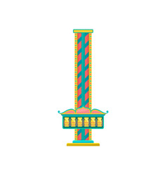 Free fall tower amusement park element vector