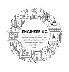Genetics and construction engineering line icons vector