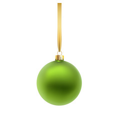 green christmas ball isolated on white background vector image