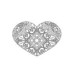 heart shaped ornament vector image