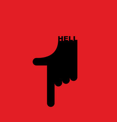 hell pointer hand direction down pointing gesture vector image