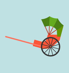 Hong kong rickshaw icon flat design vector