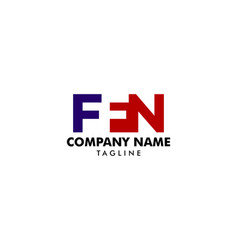 initial letter ffn logo template design vector image