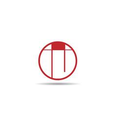 initial letter ij logo template design vector image