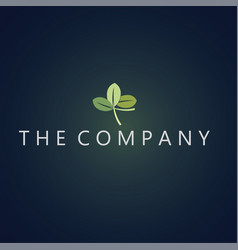 Leaf logo ideas design vector