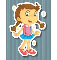 Little girl in new dress vector image