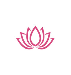 Lotus flowers design logo template icon vector