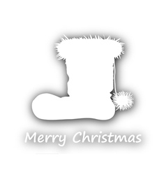 Merry christmas with santa boots vector