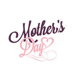 mothers day pink heart white background im vector image