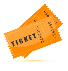Movie tickets vector