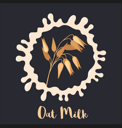 oat milk icon isolated on black background vector image