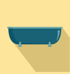 old bathtube icon flat style vector image