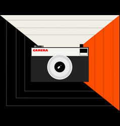 old film camera on abstract background vector image