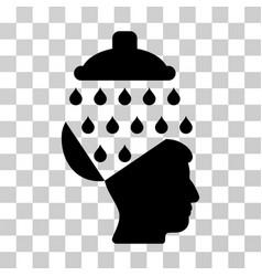 open brain shower icon vector image