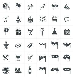 party Icons Set Design set vector image