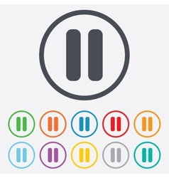 Pause sign icon Player navigation button vector image