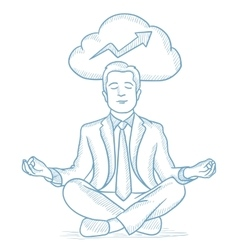 Peaceful businessman meditating vector image