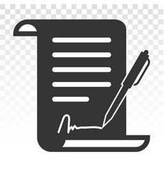 Pen signed a contract icons line art icon vector