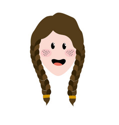 pretty woman face with hairstyle vector image