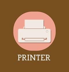 Printer design vector