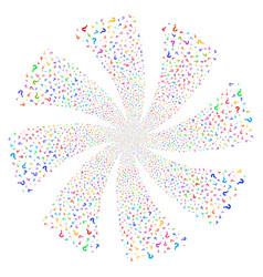 Question fireworks swirl flower vector