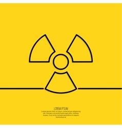 Radiation symbol vector