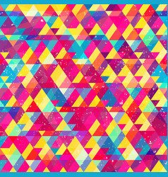 Rainbow color mosaic seamless pattern vector