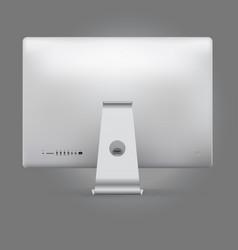 Realistic device mockup computer backside vector