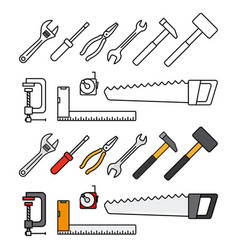 repair and construction tools vector image
