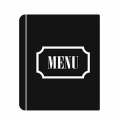 Restaurant menu black simple icon vector