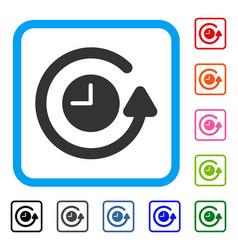 Restore clock framed icon vector